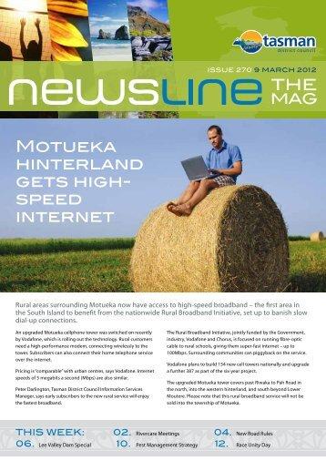 Newsline 270 - 9 March 2012 - Tasman District Council