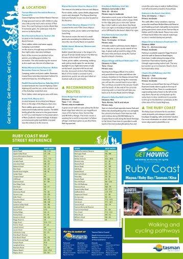 Ruby Coast Walking And Cycling Map - Tasman District Council