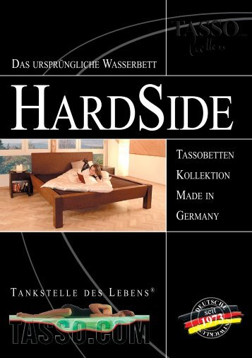 Hardside Katalog - Tasso Wasserbetten