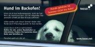 Karte Hund im Backofen - TASSO eV