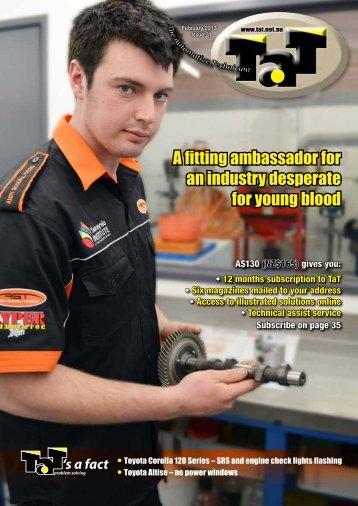 A fitting ambassador for - TAT - The Automotive Technician