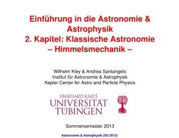 Astronomie & Astrophysik (SS 2013) - Institut für Astronomie und ...