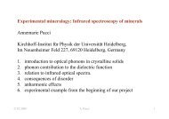 Experimental mineralogy: Infrared spectroscopy of minerals ...