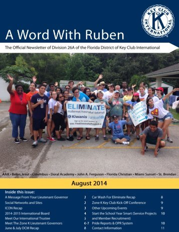 Division 26A August 2014 Newsletter