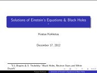 Solutions of Einstein's Equations & Black Holes - =1S.L.Shapiro & S ...