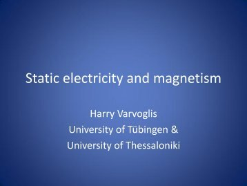 Electricity - static