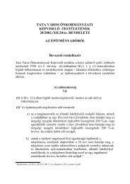 TATA VÁROS ÖNKORMÁNYZATI KÉPVISELŐ -TESTÜLETÉNEK 28 ...