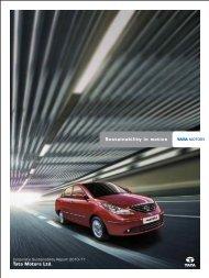 Tata Motors Ltd. Sustainability in motion