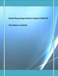 Global Reporting Initiative Report 2008-09 - Tata Motors