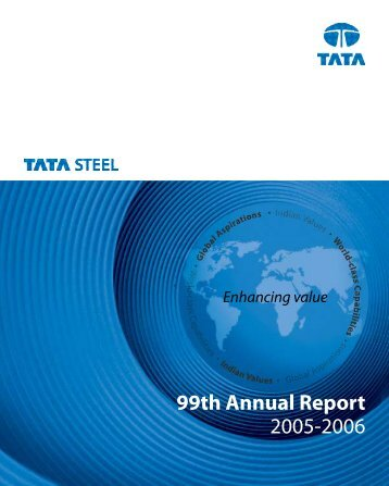 99th Annual Report 2005-2006 - Tata Steel