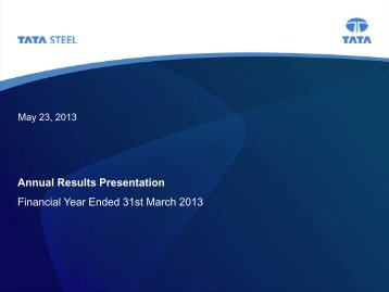 Analyst Meet Presentation - Tata Steel