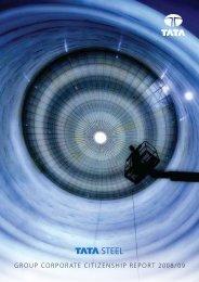 group corporate citizenship report 2008/09 - Tata Steel