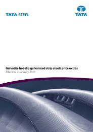 Galvatite hot-dip galvanised strip steels price extras ... - Tata Steel