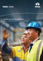 Customer brochure - Tata Steel