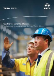 Together we make the difference Produkte und ... - Tata Steel