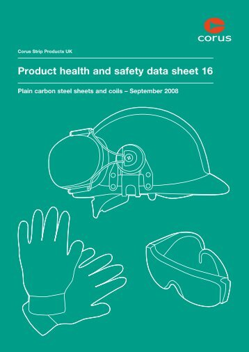 Product health and safety data sheet 16 - Tata Steel