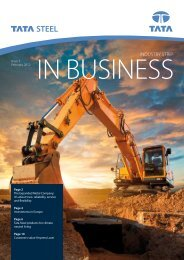 InBusiness February 2012 - Tata Steel