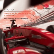 Join Corus as a Technical Apprentice - Tata Steel