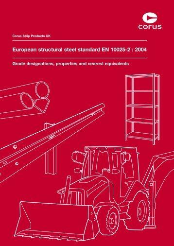 European structural steel standard EN 10025-2 : 2004 - Tata Steel