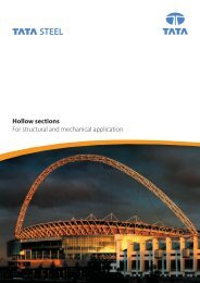 Hollow sections For structural and mechanical application - Tata Steel