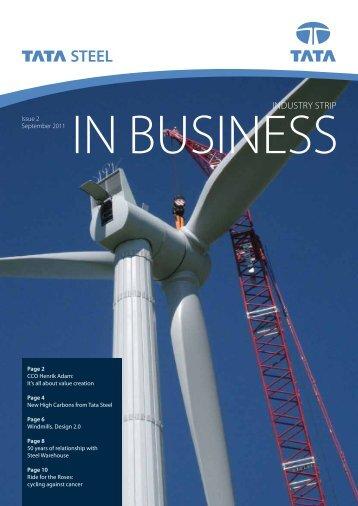 InBusiness September 2011 - Tata Steel