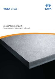 Abrazo® technical guide Wear resistant roller quenched ... - Tata Steel