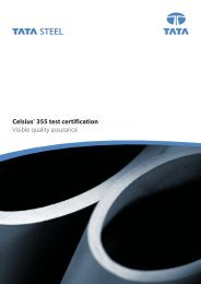 Celsius® 355 test certification Visible quality assurance - Tata Steel