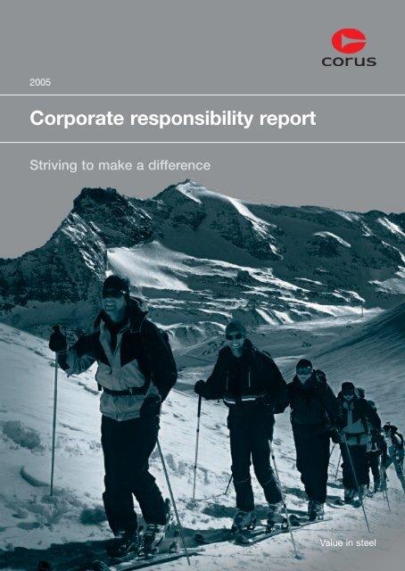 Corporate responsibility report 2005 - Tata Steel