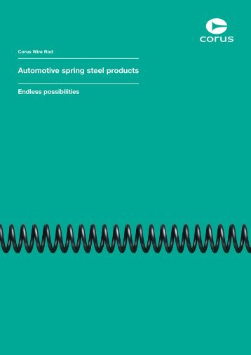 Automotive spring steel products - Tata Steel
