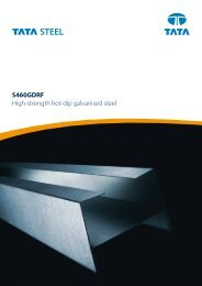 S460GDRF High-strength hot-dip galvanised steel - Tata Steel