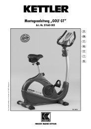 """Montageanleitung """"GOLF GT"""" Art. - Fahrrad Kaiser GmbH"""