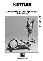 Montageanleitung Cross-Trainer Ergometer ... - Fahrrad Kaiser Gmbh