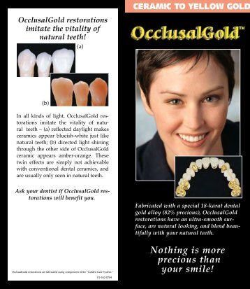 OcclusalGold - Glidewell Dental Labs
