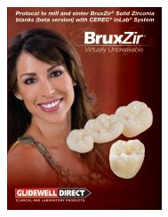 BruxZir CEREC Manual - Glidewell Dental Labs