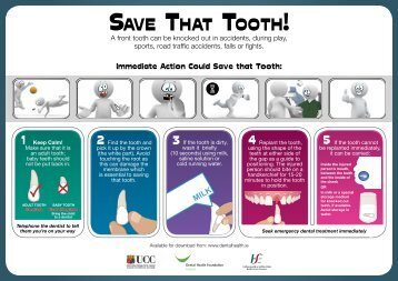 Save ThaT TooTh! - Dental Health Foundation