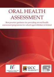Best practice guidance for providing an oral health assessment ...
