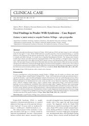 Oral Findings in Prader-Willi Syndrome – Case Report - Dental and ...