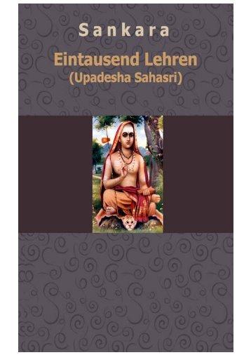 Eintausend Lehren (Upadesha Sahasri)_Sankara
