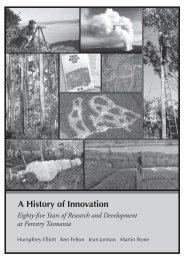 A History of Innovation - Forestry Tasmania