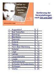 Angebote in Bad Salzuflen - Aktionswoche in Lippe 15.-21.09.2008 ...