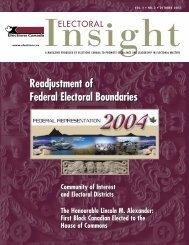 Readjustment of Federal Electoral Boundaries ... - Elections Canada