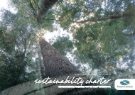 Sustainability Charter - Forestry Tasmania