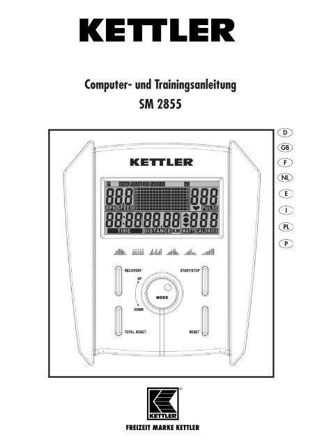 Computer Und Trainingsanleitung Sm 2855 Kettler Usa