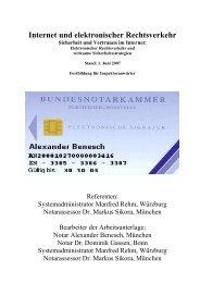 Internet und elektronischer Rechtsverkehr Sicherheit und ... - ElRV