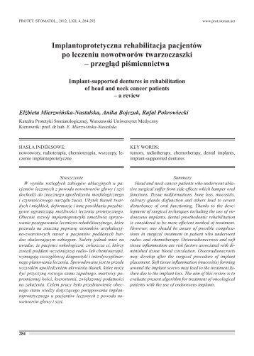 pełna wersja do pobrania - Protetyka Stomatologiczna