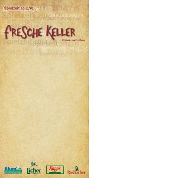 Fresche Keller Spielzeit 2014/15