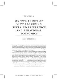 on two points of view regarding revealed preference and behavioral ...