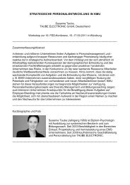 Strategische Personalentwicklung in ... - Taube Electronic