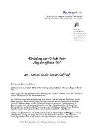 """Einladung zur 40-Jahr Feier """"Tag der offenen Tür ... - Taubenschlag"""