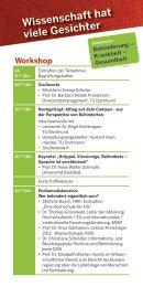 Programm zum Workshop